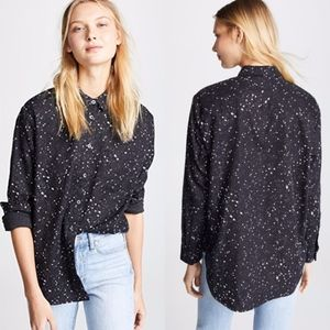 Madewell Boyfriend Oversized Star Print Shirt NEW!